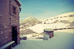 He's not afraid of Snow. (rebelbutterfly) Tags: snow vintage nikon neve 1855 marche d90 montesanvicino elcito sanseverinomarche rebelbutterfly