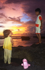 Tell me brother, how beautiful are the stars there? (Maaar) Tags: sunset bali seascape beach girl silhouette landscape fly kid o lol sibling searocks canggu lovelymoment goldenhours childrenphotography childrenatthebeach colofulsky sweettags pererenanbeach betweenthegoldensunset helpmesheisgoingcrazy marhelpmejeffieistalkinganalienlanguange allididisservedhimabeerandnowhegonecrazy jeffiegoingtostartabigtagswar imafraidofpostinganewpict donotfollowjeffieswar thanksmarhugs ineedyouhelpmartotagwarnorasnextpost makasihmartagsygbagusbagusya bungabilanguploadanewpicture hahahayoubothhadmademydayalot