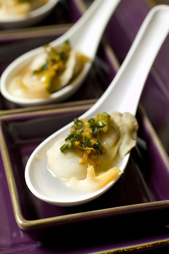 set of three Abalone and Oyster Amuse 4