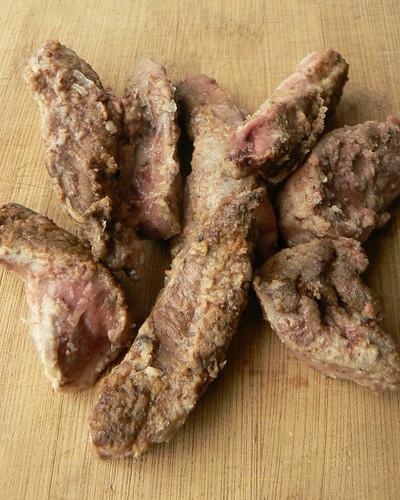 Sautéed pork heart