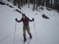 Clare, A Poser Even on Skis!