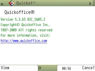 Screenshot Quickoffice 5.3.63