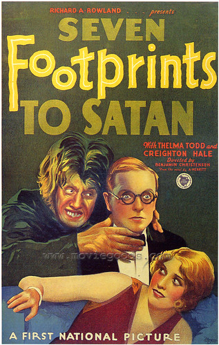 SEVEN FOOTPRINTS TO SATAN (1929) poster repro