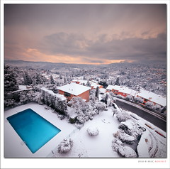 Under the Snow (French Riviera) - Vertorama (Eric Rousset) Tags: snow france clouds square landscape photography reflex nikon europe