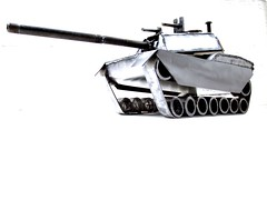 Welded metal art sculpture M1 Abrams tank