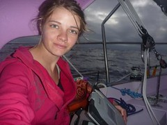 Typing Away in the Cockpit (Jessica_Watson) Tags: sailing solo aroundtheworld 16yearold unassisted jessicawatson settingouttobetheyoungestpersontosailsolononunassistedaroundtheworld jessicawatsonsailingsolounassistedaroundtheworld16yearoldsettingouttobetheyoungestpersontosailsolonon unassistedaroundtheworld