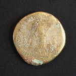 "<b>ud8 Reverse</b><br/> Another depiction of Nike on Roman coinage. The SC seen here is an acronym for ""Senatus Consulto,"" or ""by decree of the Senate."" This was more of a tradition on Imperial coinage than anything, as the minting authority rested with the Emperor alone.  Donated by Dr. Richard Simon Hanson<a href=""http://farm5.static.flickr.com/4034/4351074141_c5341c2d0e_o.jpg"" title=""High res"">∝</a>"