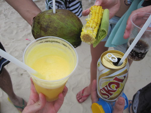 Beach drinks & food