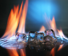 Burning Ice (Dazz*A) Tags: blue orange h