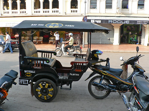 Batman Tuk Tuk side view, Siem reap