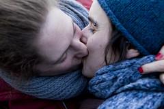 Kiss In (06) - 14Feb10, Paris (France) (]) Tags: blue gay portrait woman paris love gir