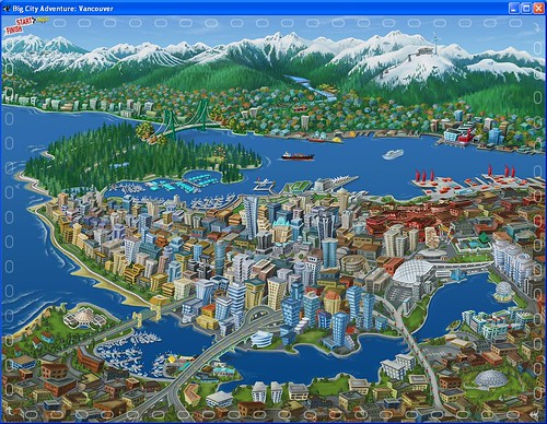 Map Of Vancouver City. map of Vancouver in the