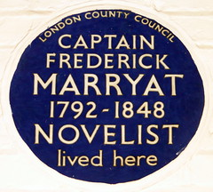 Photo of Frederick Marryat blue plaque