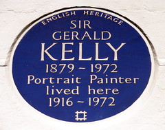 Photo of Gerald Kelly blue plaque