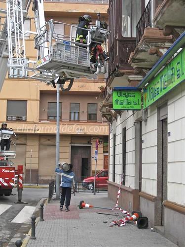 Balcón desmoronado