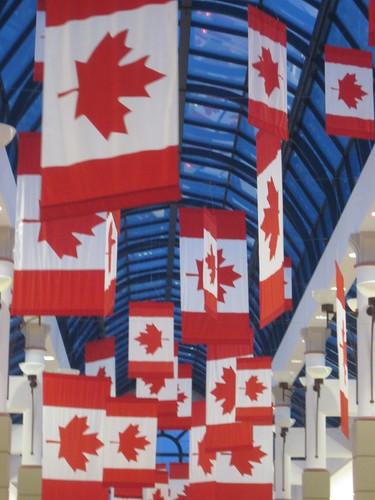 Canadian Flags at Richmond Centre