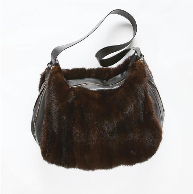 Harricana recycled fur bag 2