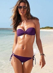 Twist bandeau top victorias secret purple bikini