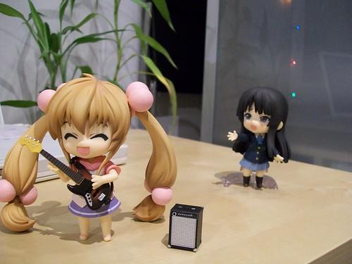 Rin is happy, Mio is sad.