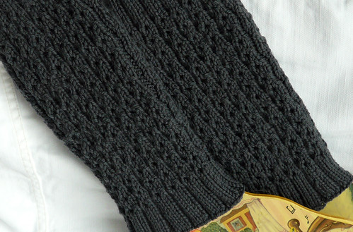 Grey wool legwarmers