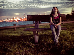 10 of 365: twilight... babe style (pimpexposure) Tags: california sunset sky colors bench daddy kid twilight heaven dusk daughter chloe 365 alameda 30mm sigma30mmf14 shiznotty pimpexposure 365daysofbabe whatyouseeinthedistancebackthereistheportofoakland