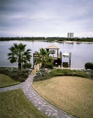 the boat (CassieBrownPhoto) Tags: film boat dock 4x5 160vc largeformat miniaturization kodakportra