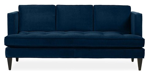 Blue Single Cushion Hutton Sofa - Room and Board