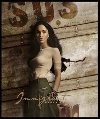 # Megan Fox - Immigrant (samuelpera) Tags: film photoshop movie studio video fake megan linda fox bonita samuel beautifull blend manipulao edio wonderfull photofiltre pra