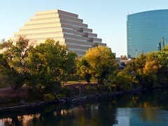 Ziggurat Building (AntyDiluvian) Tags: california travel building river pyramid sacramento ziggurat sacramentoriver 5photosaday