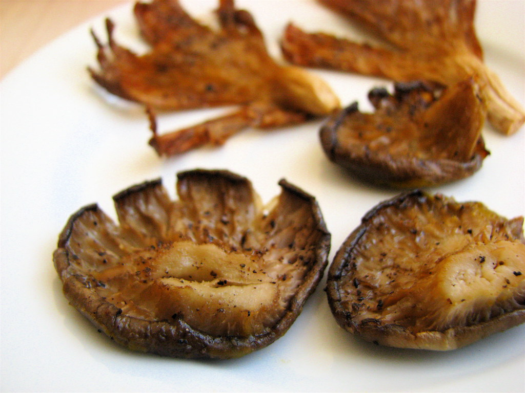 oyster mushrooms roasted 2