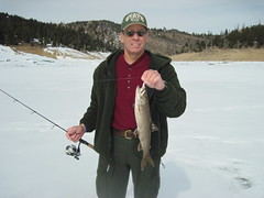 Me With a Good Lake Trout (fethers1) Tags: icefishing laketrout grossreservoir