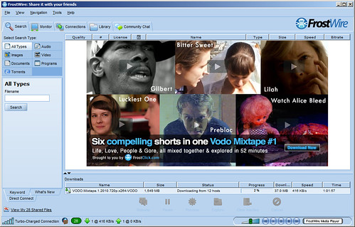 FrostWire Downloading Vodo Mixtape #1