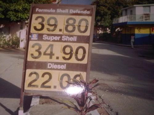 gasolina en los 90s