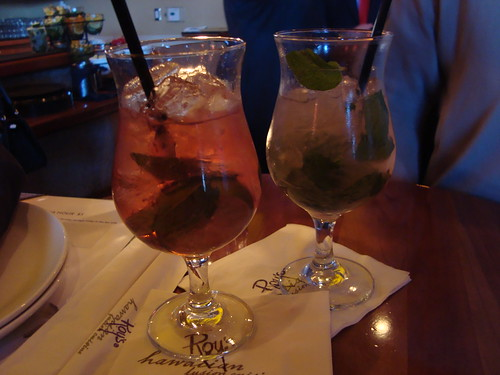 Pomegranate and Guava Mojitos @ Roy's