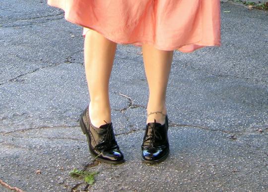 black patent oxford lace up shoes