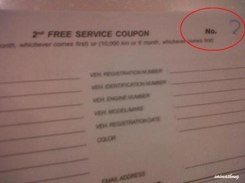 Free Service Vouchers