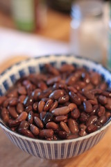 cooked heirloom beans