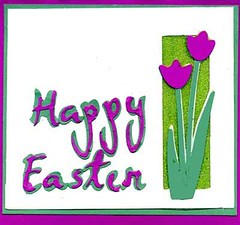 Hand Made Easter Card with Tulip Die Cuts