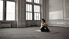 yoga space 2 (tomms) Tags: yoga loft pose space stretch teacher mat ballroom yogi reach