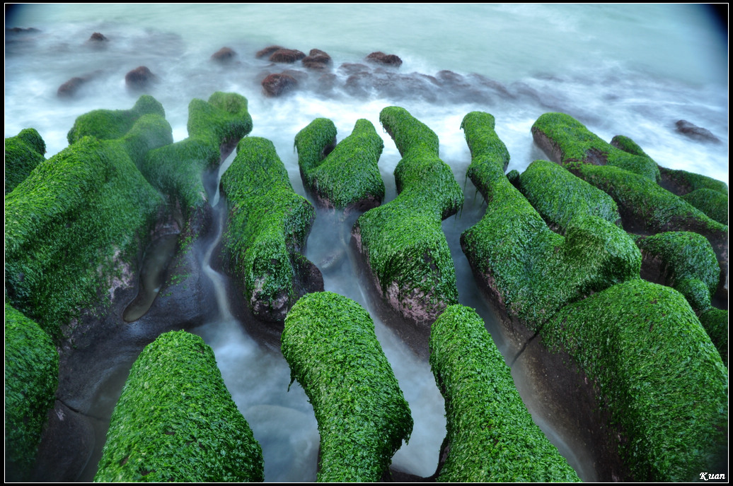 990318石門老梅礁石