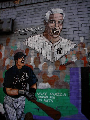 Mike Piazza and Joe DiMaggio