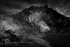 Dark Mountain ( DocBudie) Tags: blackandwhite bw dark volcano berastagi darkscape darkmountain sumaterautara sibayak gunungsibayak mountsibayak northvumatra