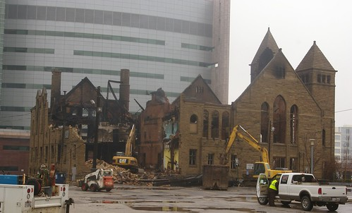 Euclid Avenue Congregational Church demolition