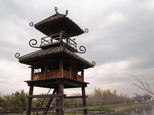 弥生時代の復元楼閣がある『唐古・鍵遺跡』@田原本町