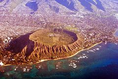 Postcard view of Diamond Head (WorldofArun) Tags: ocean travel vacation history beach window monument nature plane buildings island vent hawaii lava islands nikon downtown state pacific waikiki oahu head flight platform scenic tourist diamond explore coastal airline diamondhead hawaiian artillery series hi honolulu bigisland sight geology dorsal fin waikikibeach visitor geologist volcanic ridgeline aloha enjoyment eruption magma mahalo cinder windowseat observationdeck flows tunas 808 upintheair waikk hawaiianairlines 18200mm tuffcone nikond40x lahi yenumula worldofarun fortruger airlinewindowseat honoluluvolcanicseries unitedstatesstatemonument arunyenumula