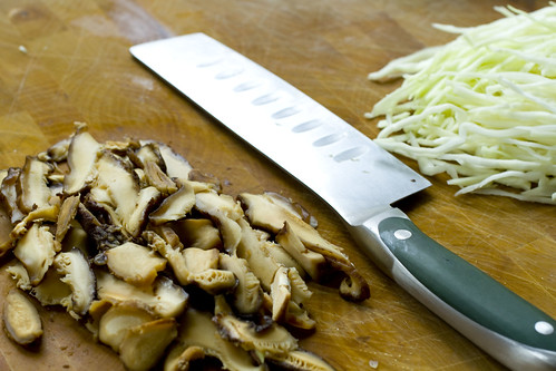sliced shitake and cabbage 2