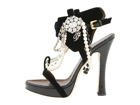 DIY jeweled sandals Dsquared 1