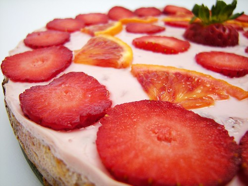 cheesecake fragola e arancio sanguigno