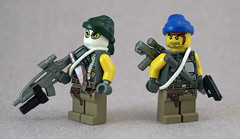 Post-Apoc Mercenary Outpost (Minifigs) (Titolian) Tags: two army day post lego future guns forty outpost apoc mercenary brickarms usdf