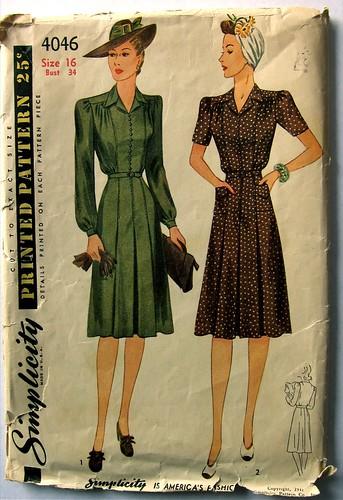 Vintage Simplicity 4046 Dress